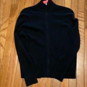 Black cashmere cardigan